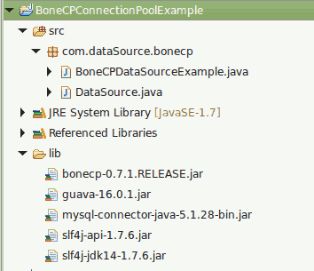 BoneCP Connection Pooling Example