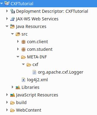 Configure Log4j with CXF