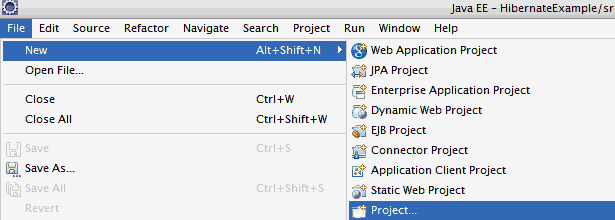Create Hibernate Project