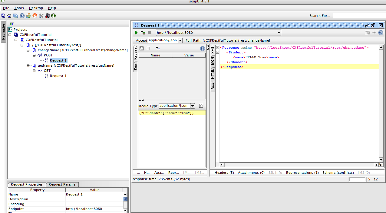 Testing REST Web Service With SoapUI Output