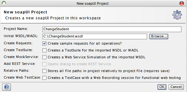 Create soapUI Project