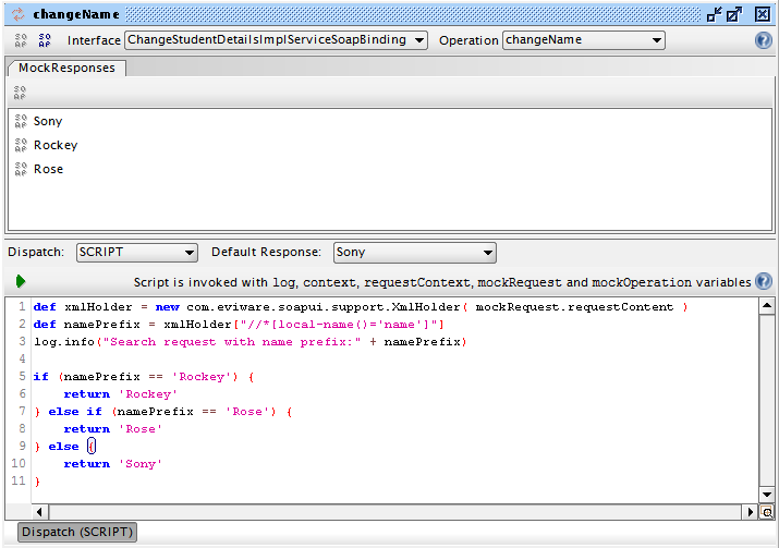 Add Groovy Script On MockOperation Editor