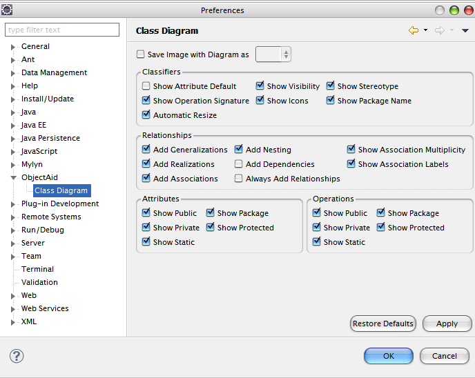 ObjectAid Configuration