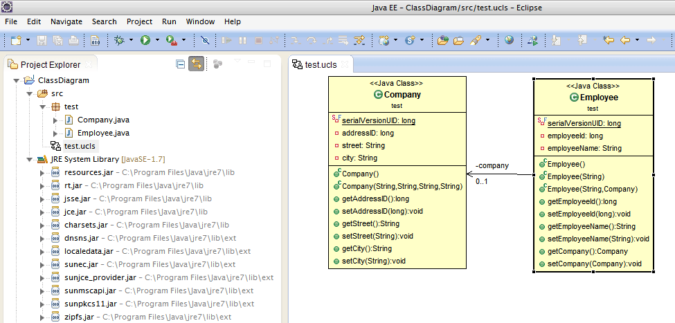 Generate class diagram using eclipse objectaid configuration ccuart Images
