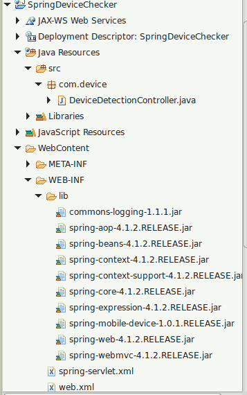 Detect Device Type Using Spring