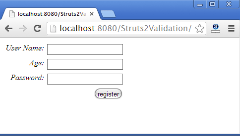 Struts2 Validation Using Annotation
